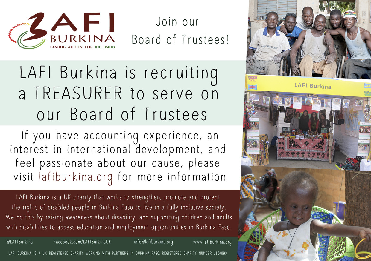 Trustee Recruitment – Treasurer