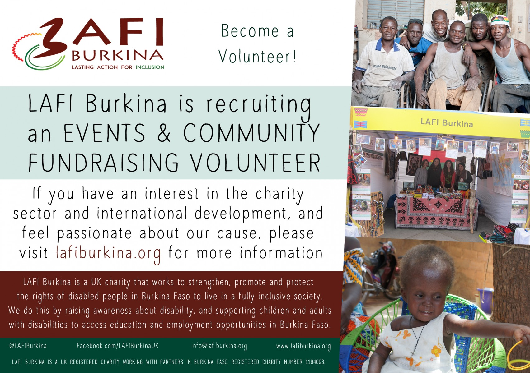 Volunteer Recruitment – Events & Community Fundraising Volunteer