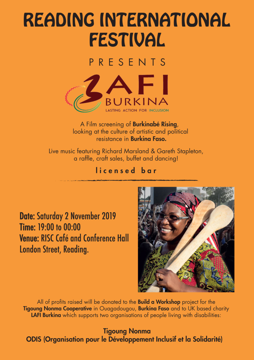 Burkinabè Rising film screening, live music and buffet